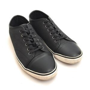Banana Republic Lace Up Black Leather Sneakers 8M